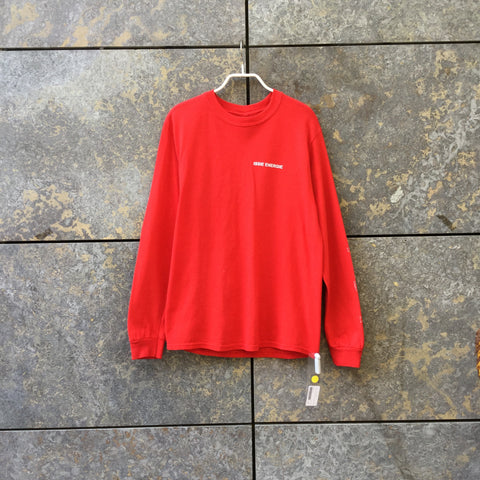 Red-Colorful Cotton Independent Top long sleeve  Size S/M