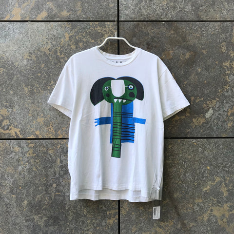 White-Colorful Cotton Marni T-shirt Loose-fit Size M/L