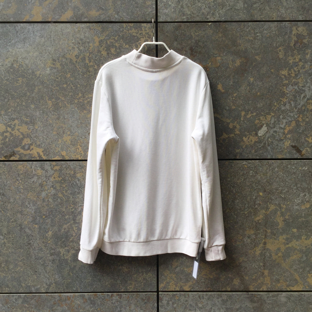 White Cotton Mix Puma Sweatshirt Turtle Neck Size S/M
