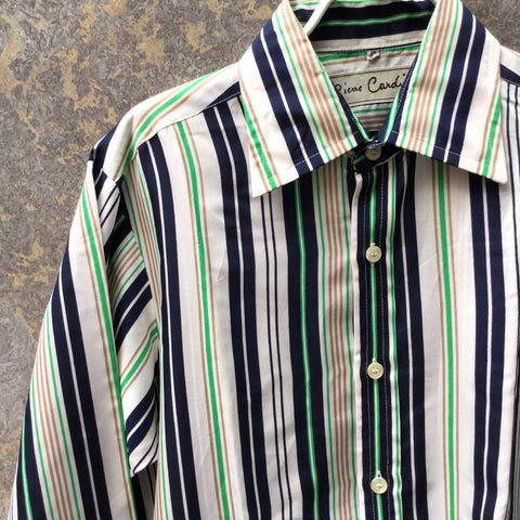 Colorful Polyester Vintage Pierre Cardin Shirt  Size M