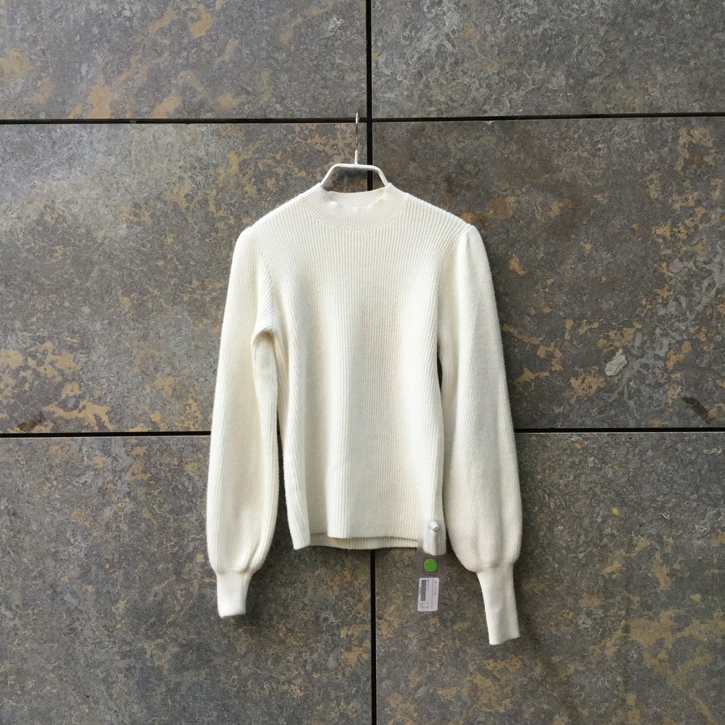 Beige Wool Mix Independent Sweater Sleeve Detail Trumpet Sleeve Size XS/S