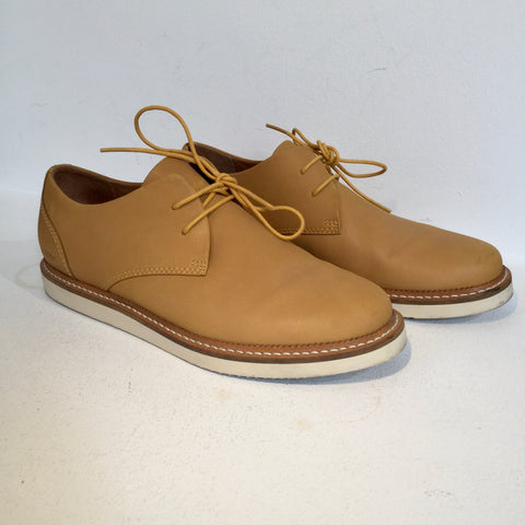 Caramel Leather Pointer Oxfords  Size 42