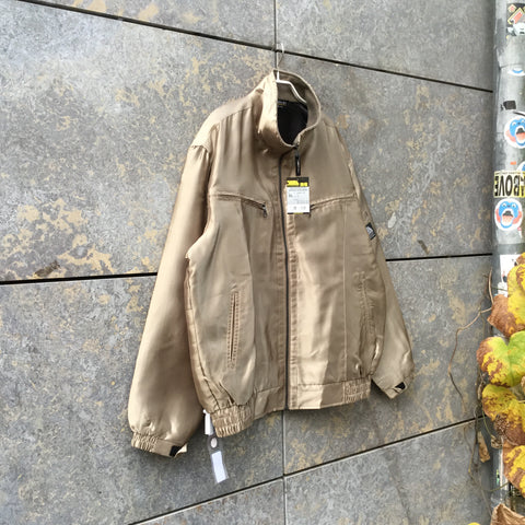 Gold Polyester Modern Independent Bomber Multi Pocket Size XXL/3XL