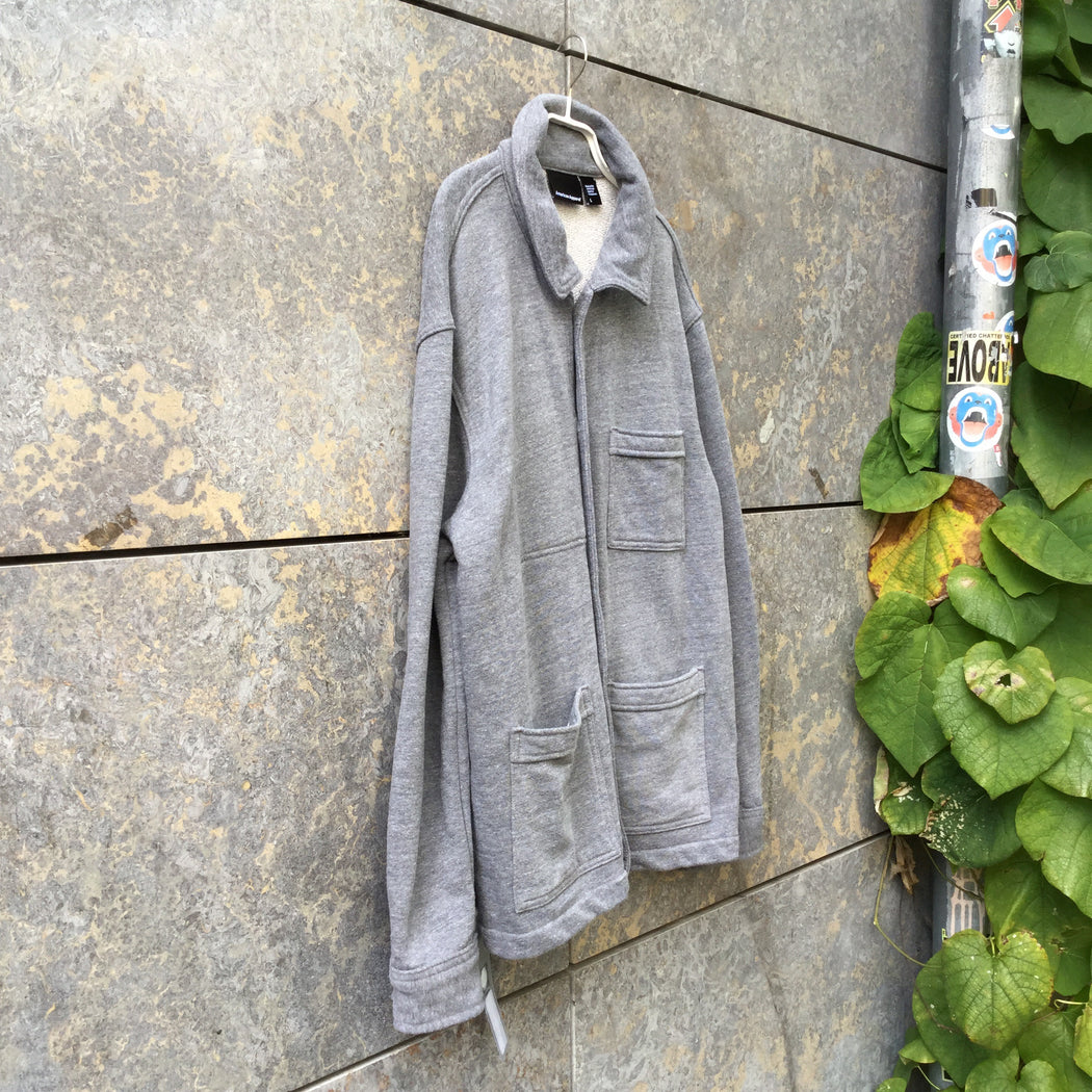 Grey Cotton Mix American Apparel Jacket Multi Pocket Size L/XL