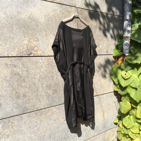 Black Wool / Polyamide H&m X Maison Martin Margiela Cocoon Dress Adjustable Feature Size M/L