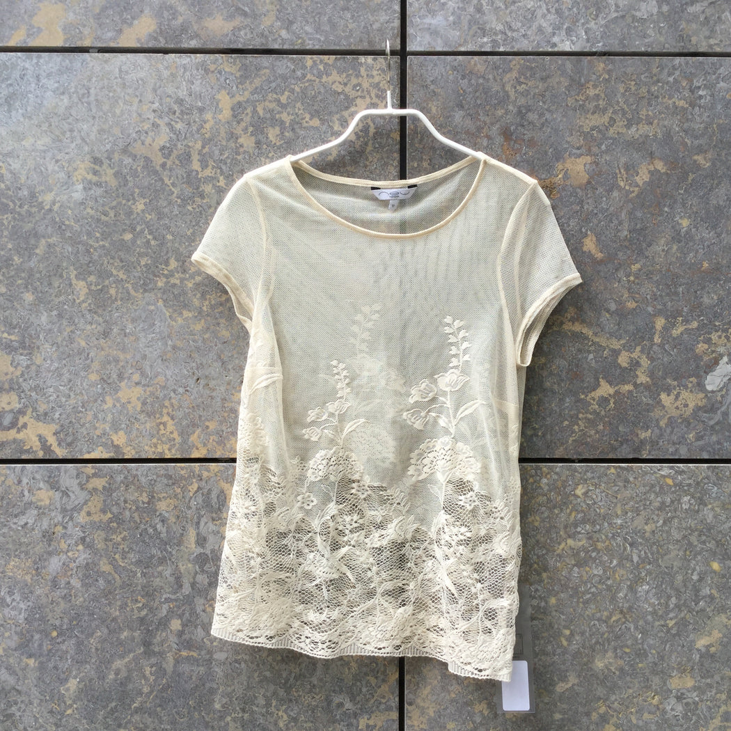 Beige Lace New Look Top SS  Size S/M
