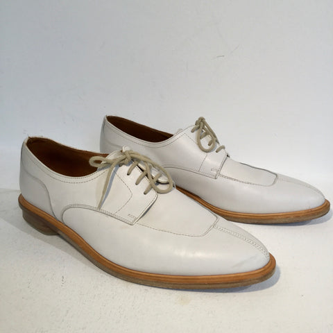 Light Gray-Tan Leather Paraboot Derby
