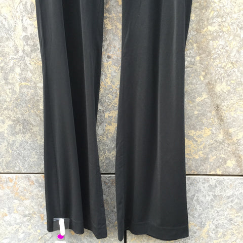Black Polyester Modern Issey Miyake Trousers Bell Bottom Size 29/30