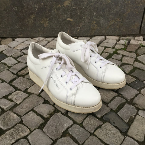 White Leather Acne Studios ( womens ) Sneakers Platform Size 7.5