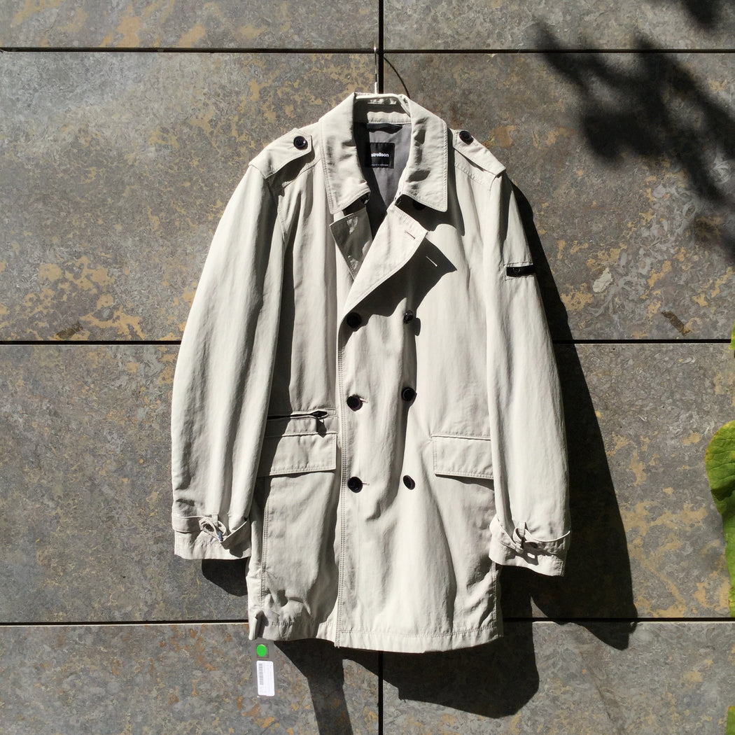 Pearl Polyamide Contemporary Trench Coat Multi Pocket Size L/XL