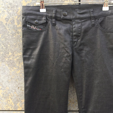 Black Cotton / Poly Mix Diesel Slim Fit Jeans  Size 28/29