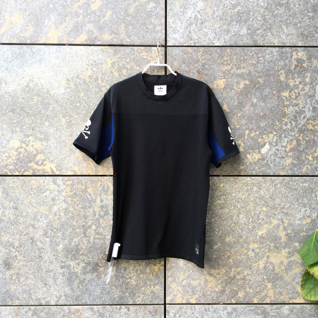 Black-Blue Polyester Modern Adidas Collaboration T-Shirt  Size S