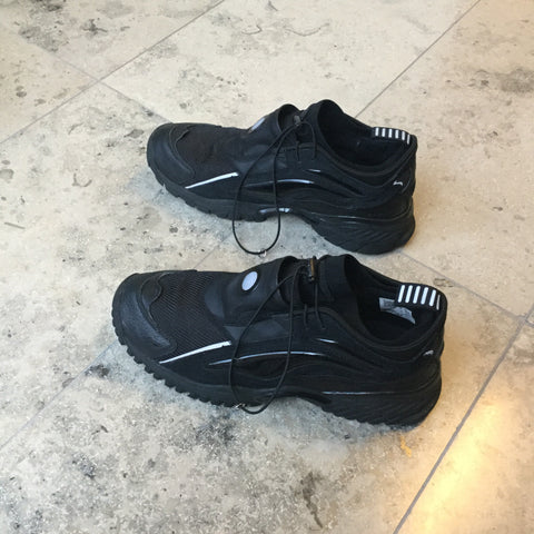 Black Leather/synthetic Mix Li Ning Sneakers  Size 44