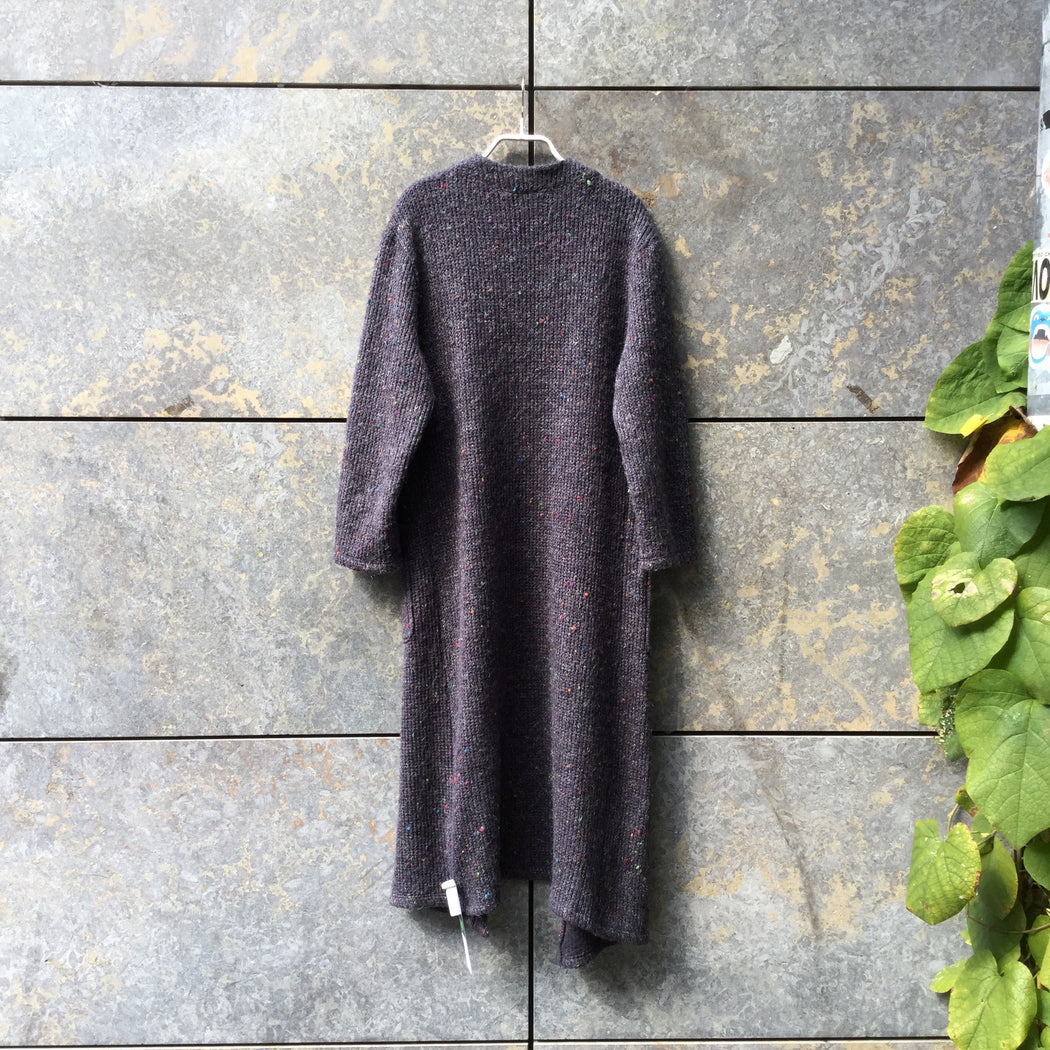 Slate Wool / Acrylic Mix Contemporary Main Cardigan Conceptual Detail Elongated Size M/L