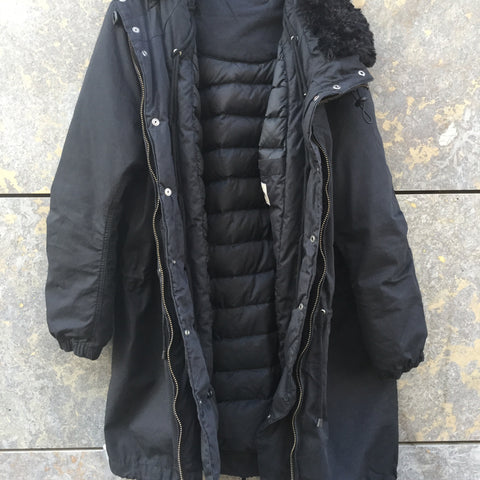 Black Down Acne Studios ( Mens ) Parka Draw String Convertible Size M/L
