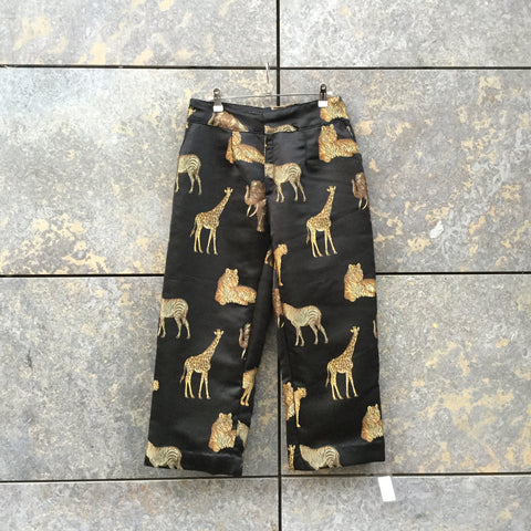 Black-Gold Polyester Modern Independent Trousers  Size 30/31