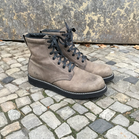 Tan Leather Broken Homme Boots Stitching Detail Size 44