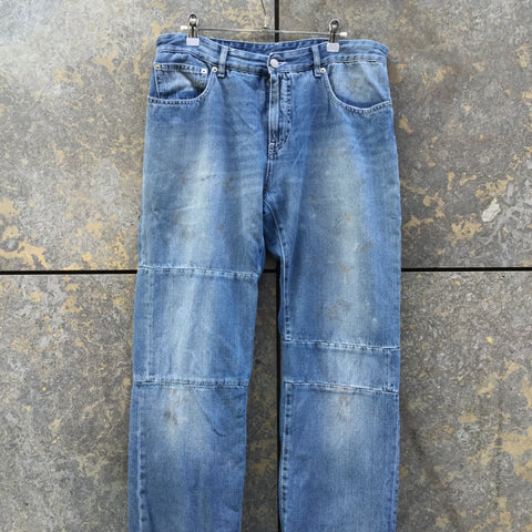 Denim Blue Denim Mm6 Maison Margiela Straight Fit Jeans  Size 30
