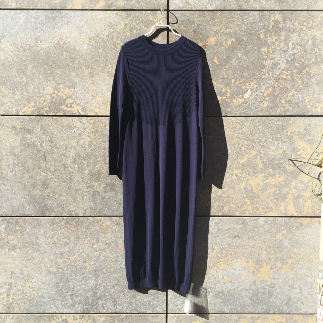 Indigo Rayon Mix COS Maxi Dress  Size S/M