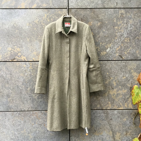 Grey-tones Wool Contemporary Main Trench Coat  Size M/L