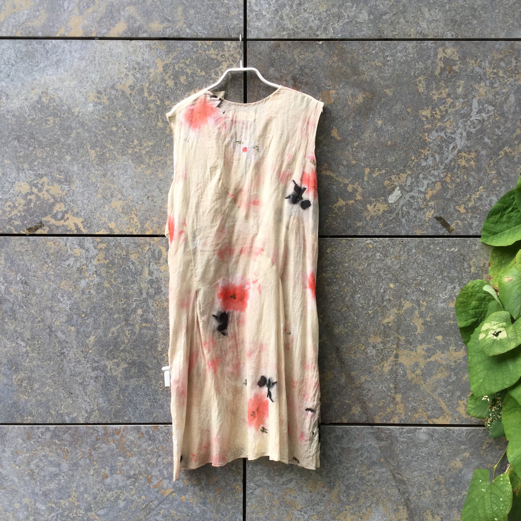 Colorful Linen Marni Cocoon Dress Conceptual Detail Sleeve Detail Size M/L