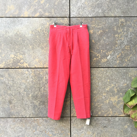 Hot Pink Cotton / Rayon Mix Contemporary Trousers  Size 30/31