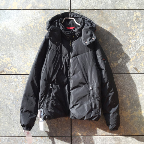 Black Synthetic Contemporary Main Coat Multi Pocket Size L/XL