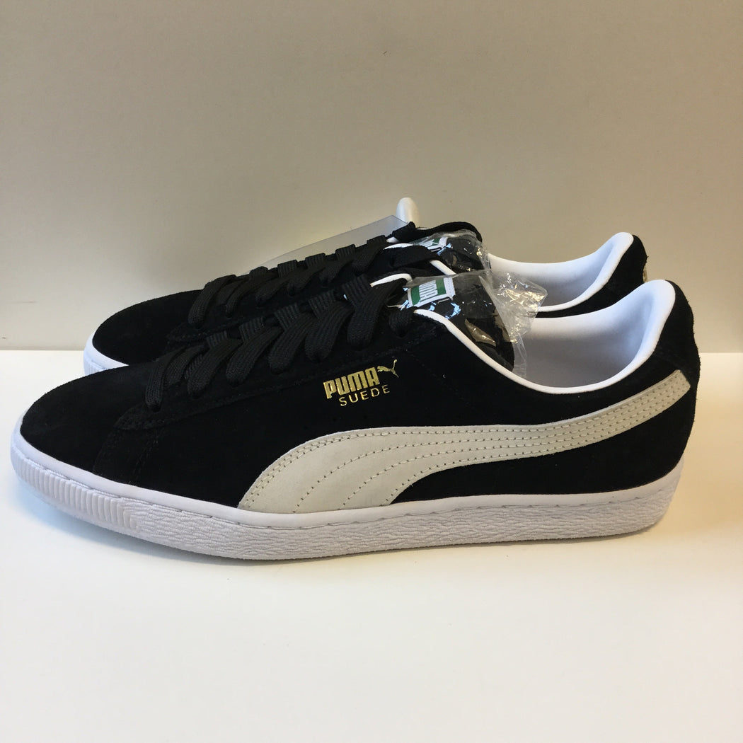 Black-White Suede Puma Sneakers  Size 42