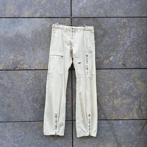 Straw Cotton Sabotage Cargos Zippered Conceptual Detail Size 29/30