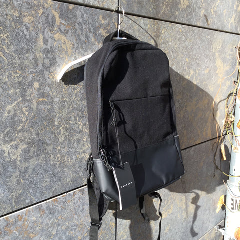 Black Synthetic Contemporary Main Backpack