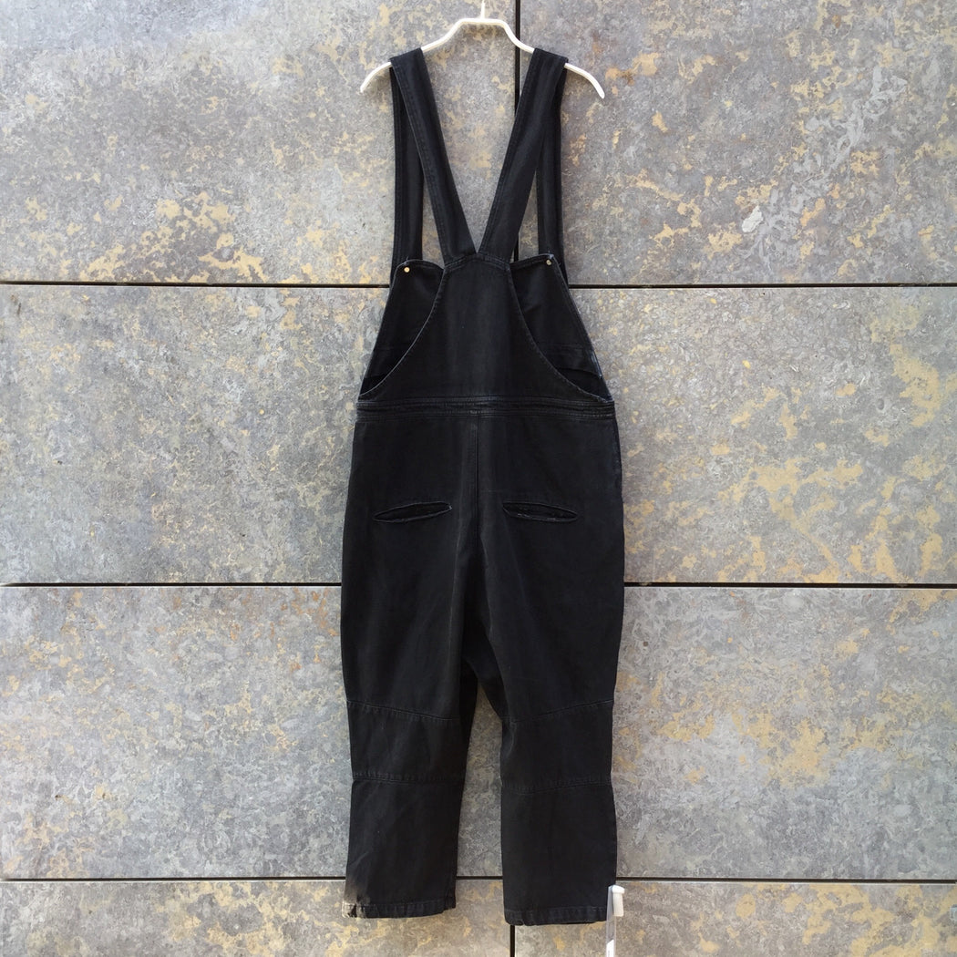 Black Cotton Contemporary Overalls Drop-crotch Size 30