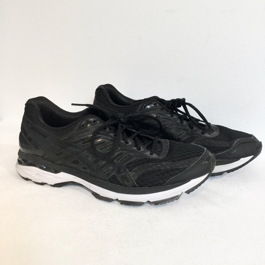 Black-White Synthetic Asics Sneakers  Size 42