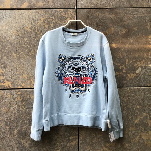 Light Blue-Peach Cotton Kenzo Sweatshirt  Size M/L