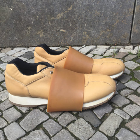Tan Leather/Synthetic Mix Dirk Bikkembergs Sneakers  Size 11