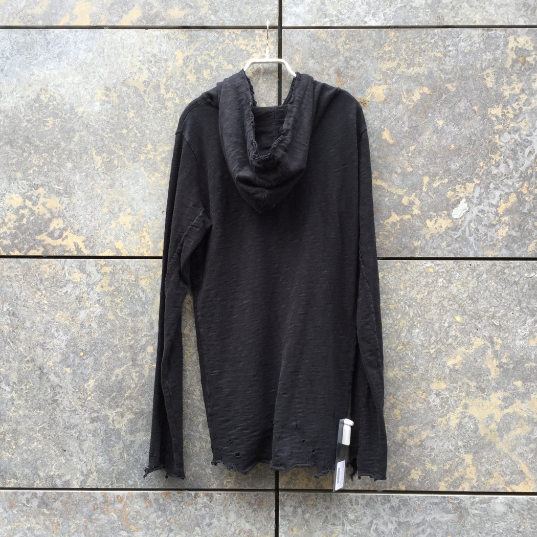 Black Cotton Thom Krom Hoodie Oversized Size S