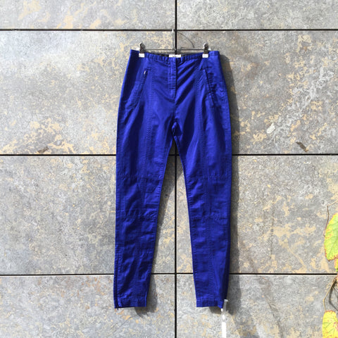 Royal Blue Cotton / Linen Mix Acne Studios ( Womens ) Trousers  Size 26/27