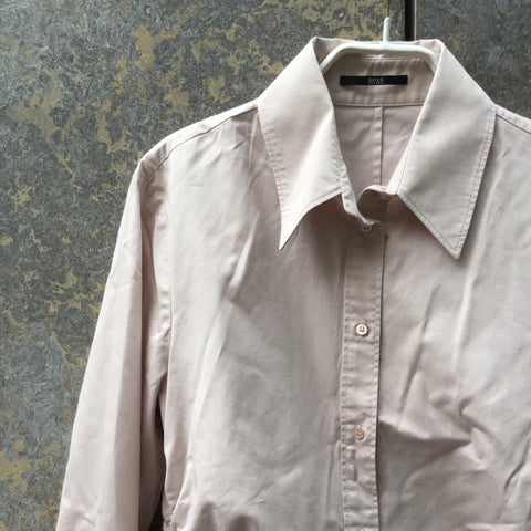 Faded Rose Cotton Mix Hugo Boss Shirt  Size S/M