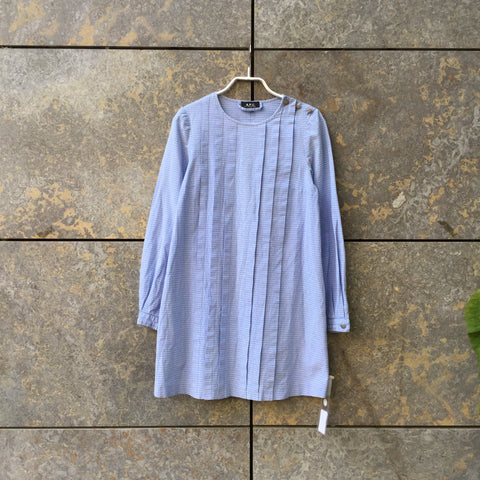 White-Light Blue Cotton A.p.c. ( Womens ) Dress  Size S/M