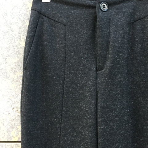 Graphite Wool / Polyester Mix Drykorn High Waist Pants Wide Leg Size 28/29