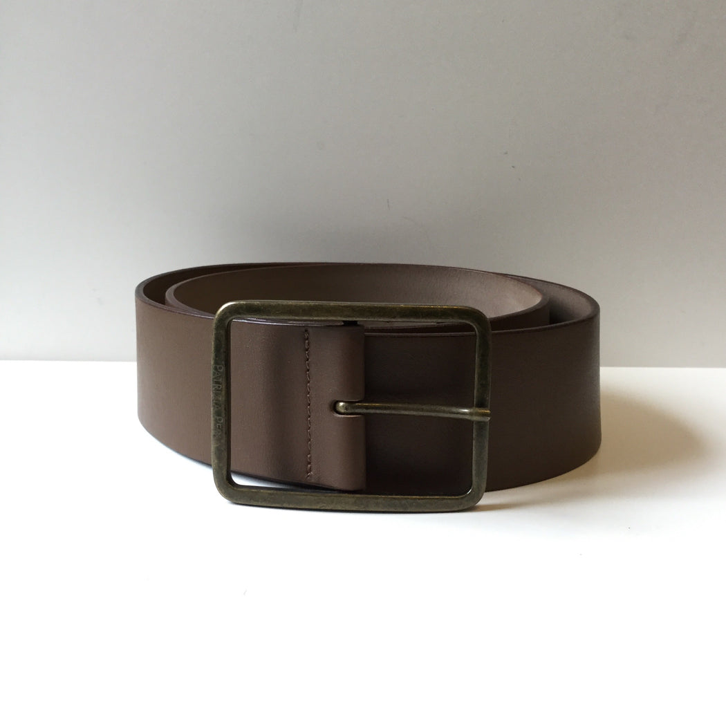 Brown Leather Patrizia Pepe Buckle Belt