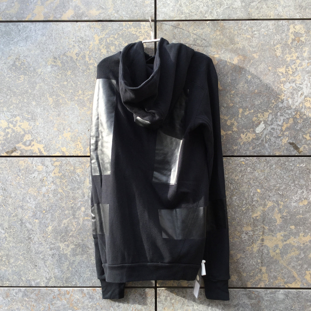Black Cotton 11 By Boris Bidjan Saberi Hoodie Zippered Elbow Patch Size L/XL