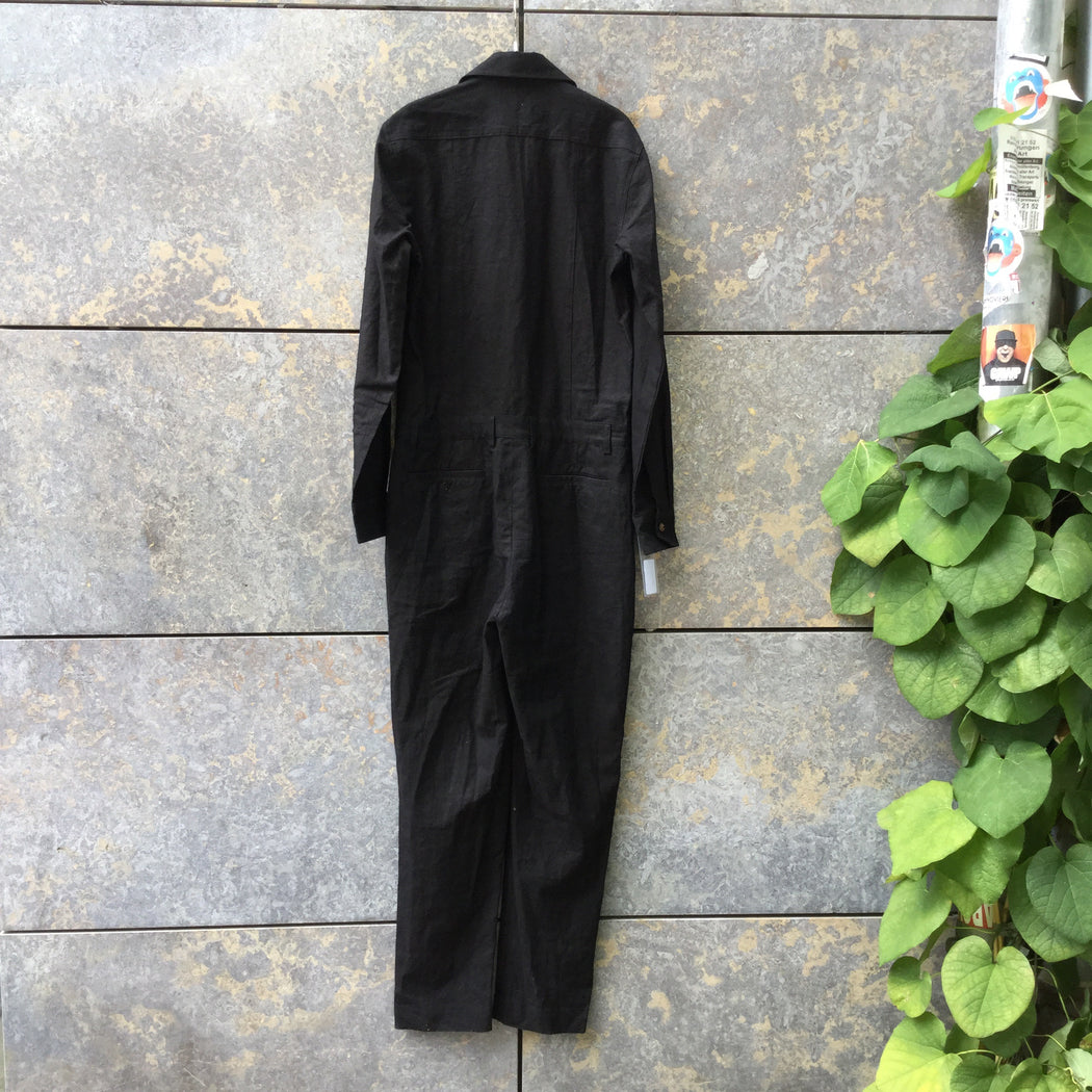 Black Hemp Contemporary Main Jumpsuit  Size M