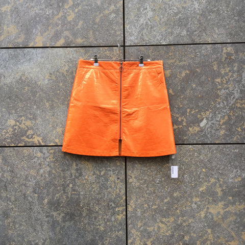 Orange Synthetic Independent Skirt  Size 34/35