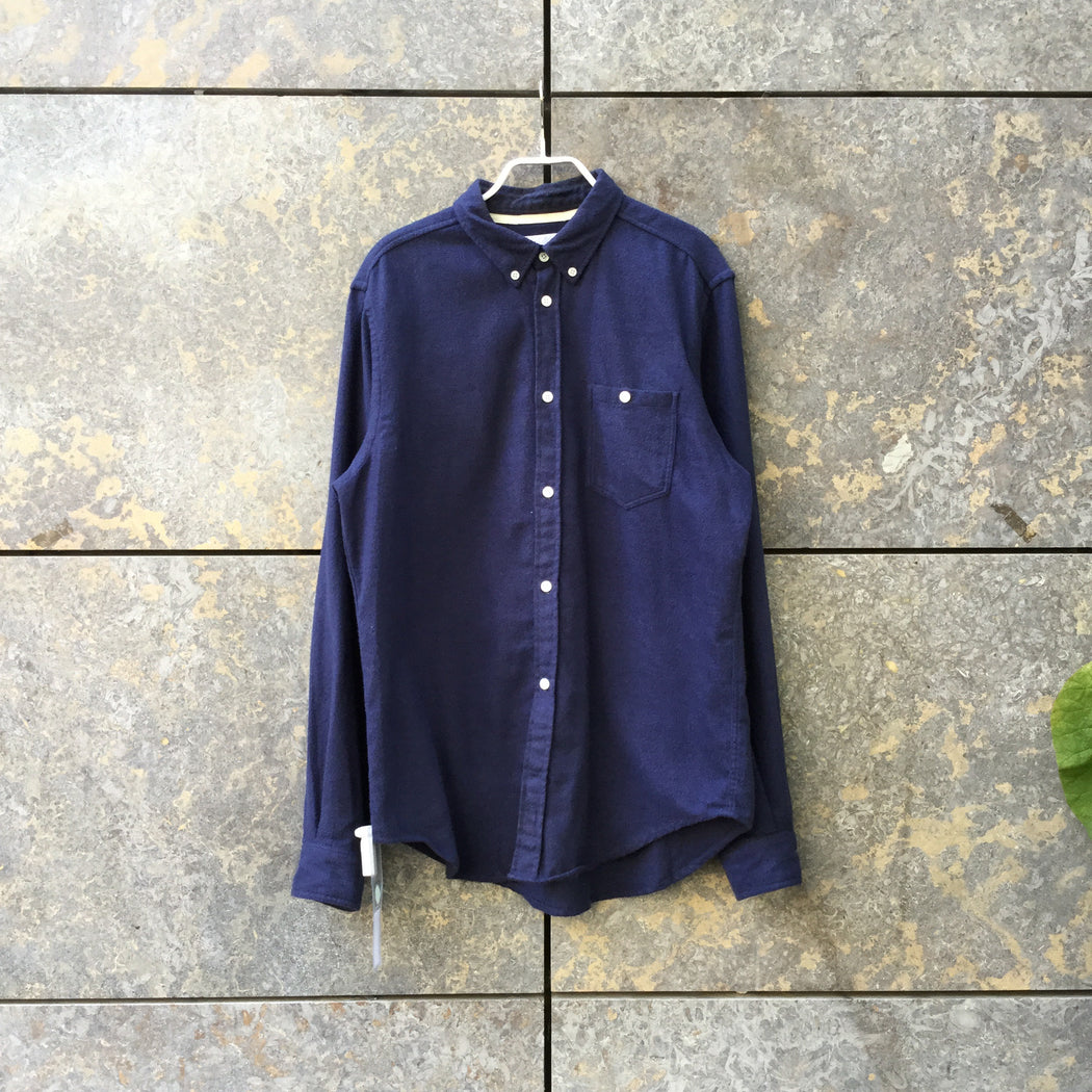Navy Cotton Norse Projects Shirt Button Through Size M/L