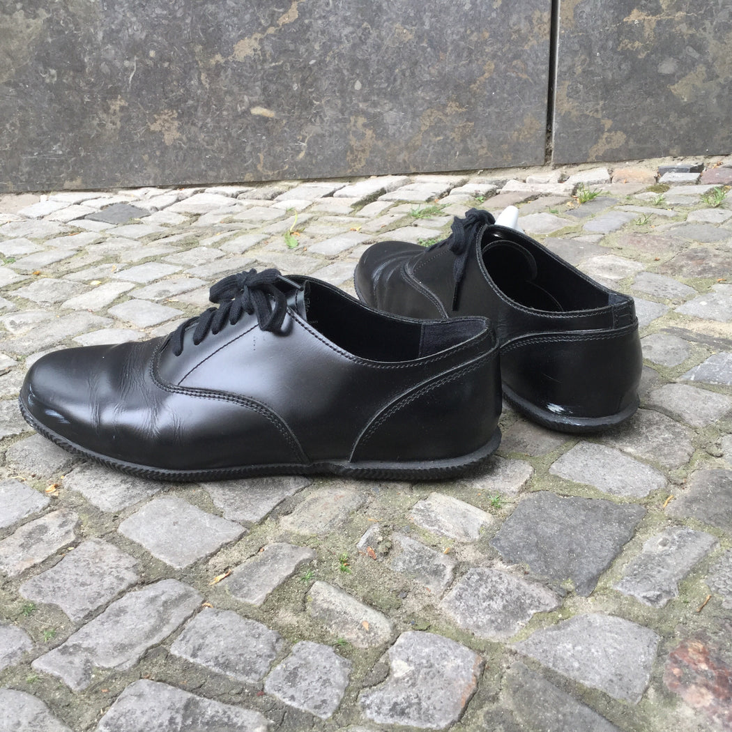 Black Leather Comme des Garcons Sneakers  Size 8.5