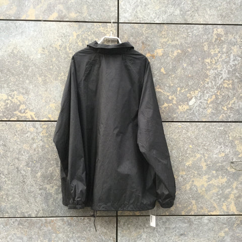 Black Polyester Modern Contemporary Main Windbreaker  Size L