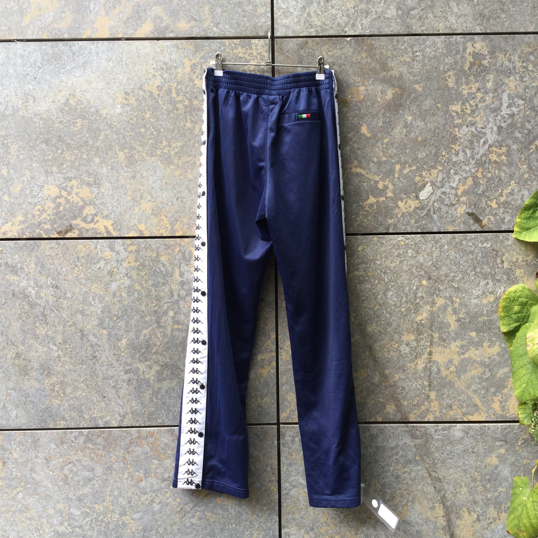 Royal Blue Polyester Modern Kappa Jogging Pants  Size 32