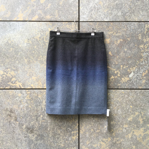 Black-Blue Wool COS Midi Skirt  Size 30/31