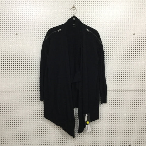 Black Wool All Saints Cardigan Zippered Size S/M