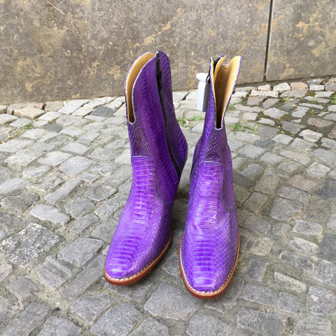Purple Leather Vintage Cowboy Boots  Size 9.5